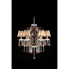 6 light crystal chandelier ok 5113h