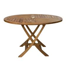 all things cedar tr48 outdoor round folding dining table