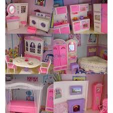 barbie furniture dollhouse. Goldlok Toys Barbie Size Doll House Dollhouse Furniture 5 Rooms W/ Lights And Sound O