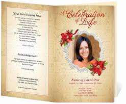 Funeral Service Program Template 74 Awesome Funeral Program