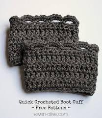 Free Crochet Boot Cuff Patterns Gorgeous Chunky Crochet Boot Cuffs Crochet Like A Rock Star Pinterest