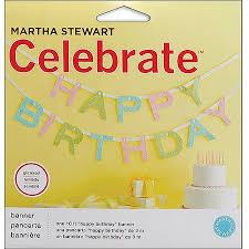Celebrate Banner Martha Stewart Celebrate Banner Happy Birthday