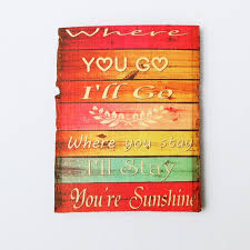 Wooden Signs With Quotes Interesting Rustic Wooden Sign LOVE Quotes Wood Signs Colorful Wood Quotes