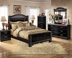 A great bedroom layout using Ashley Furniture products