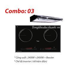 Combo : 02 Bếp từ Canzy CZ26B , Máy hút mùi Canzy - Siêu thị Nhà bếp Đức  Thành