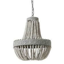 aged wood beaded chandelier from chandeliers with wooden beads