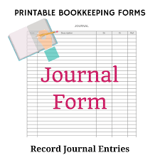 Bookkeeping Journal Template What Are Bookkeeping Journals And Entries