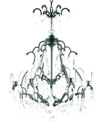 wrought iron crystal chandelier white