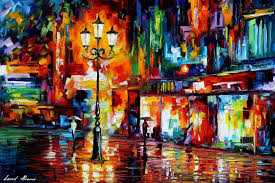 downtown night lights