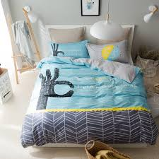 light blue duvet cover set with hand pattern grey bed sheets 100 cotton bed linens for s twin queen multi size bedding set in bedding sets from home