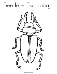Small Picture Beetle Escarabajo Coloring Page Twisty Noodle