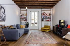apartment living room. Navigly-Milan-apartment-renovation-living-room-rug Apartment Living Room