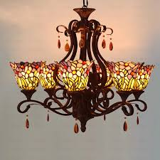 image of quality of stained glass chandelier