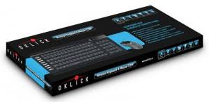 <b>Клавиатура</b> + <b>мышь Oklick 220M Black</b> 2.4ГГц USB беспроводная ...