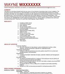 Electrician Apprentice Resume Samples Electrical Apprentice Resume Sample Resumes Misc Livecareer