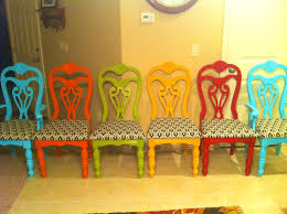 Formal Dining Room Chair Covers Bathroom Exciting Bright Dining Room Orange Ack Chairs Colorful