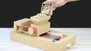 diy mini peanut ler machine from cardboard at home