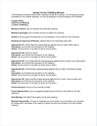 Corporate Minutes Form Minimalist Meeting Minutes Sample Plain Table
