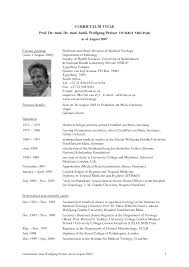 100 Medical Doctor Curriculum Vitae Template Examples