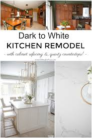 Our Dark to White Kitchen Remodel Before and After - Setting for Four