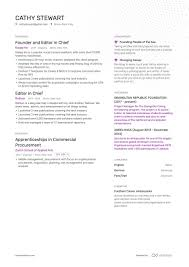 Editor Resumes Editor In Chief Resume Example And Guide For 2019