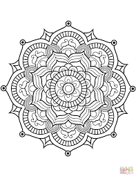 Coloring Pages Ideas Flower Mandala Coloring Page Free Pages For