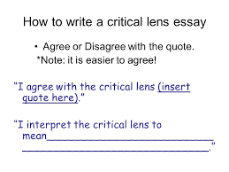 the new york state english regents ppt  how to write a critical lens essay