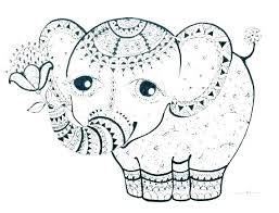 Baby Elephant Coloring Pages Elephant Color Page Coloring Baby