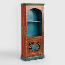 Elephant and Floral Motif Bookcase