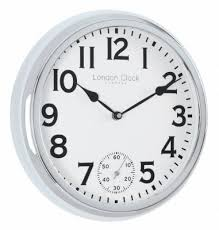 london clock company retro sweep silver