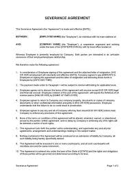 sle severance agreement template