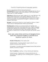 Essay About Learning English Language Essay On English Language Learners