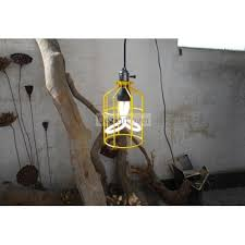 caged lighting. Caged Industrial Pendant Lamp With Plumen Bulbs Lighting L