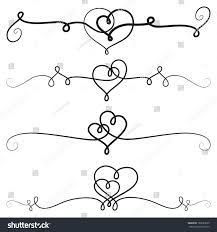 Heart Scrolls Royalty Free Decorative Vignettes With Hearts 165693620 Stock