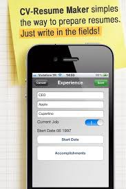 Where Can I Make A Free Resume How To Make Resume Cv With Your Iphone Or Ipad On The Go