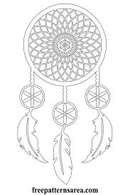 Significance Of Dream Catcher Interesting Meaning Of Dream Catcher And Printable Vector Pattern FreePatternsArea