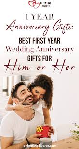 year anniversary gift ideas for him and her