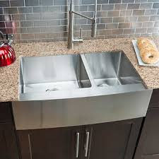 large kitchen sink. Hahn Chef Series Handmade Large 60/40 Farmhouse Sink Kitchen