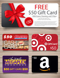 free 50 gift card dentist exam cleaning and x ray salt lake city millcreek