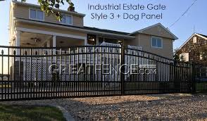 metal fence designs. Industrial Estate Driveway Gate Style 3 With Dog Panel Metal Fence Designs -