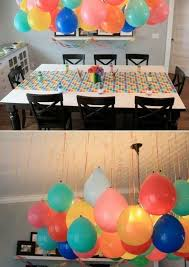 balloon decorations without helium. Smart since there is a global helium  shortage cheap easy party decor. put a small marble in the balloon before  hanging ...