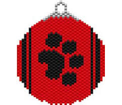 Free Plastic Canvas Patterns To Print Extraordinary PAW PRINT ORNAMENT FREE Sova Enterprises