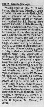 Obituary for Prisdlla TILLEY (Aged 75) - Newspapers.com