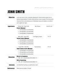Template For Basic Resume Free Basic Resume Templates Basic Resume