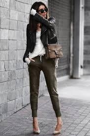 jogger pants street style looks for women 2019