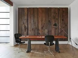 wooden home office. View In Gallery Feature Wall For The Home Office With Reclaimed Barn Wood [Design: Matt Bear / Wooden