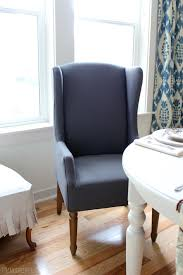 R Comfortable Dining Room Chairs High Back Wing Chair Upholstered Only With  Additional Blue Wooden Theme And Charlie Modern Wingback About Retro