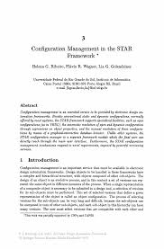 configuration management in the star framework springer inside