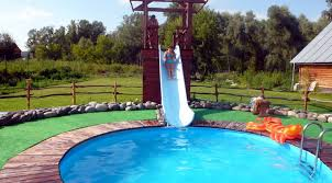 Creativity Backyard Pool Designs With Slides Slide Ideas Find This Pin And More Decorating