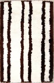 brown and white area rug striped white brown plush modern gy oriental area rug new